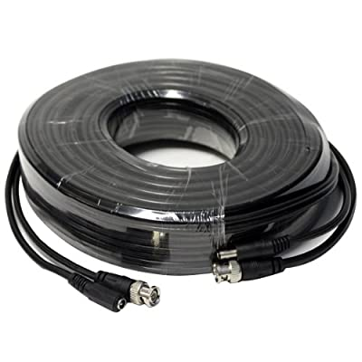 HDVD, 25ft HD SDI PREMADE Combo Video & Power Cable for HD-SDI Cameras, BNC M-M, 2.1mm Power M-F, Splittable from End to End, Black
