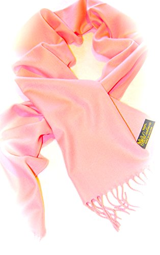 100% Cashmere Scarf (Pale Pink)