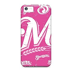 Tpu NikRun Shockproof Scratcheproof Milwaukee Brewers Hard Case Cover For Iphone 5c