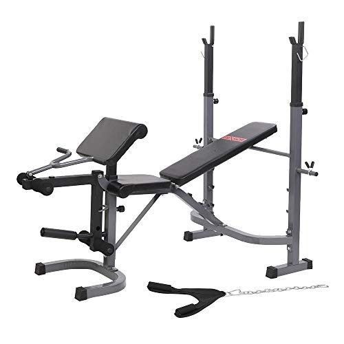 PEXMOR Weight Bench with Butterfly and Preacher Curl, Olympic Weight Bench with Leg Extension, 7 Positions Multifunctional Weight Lifting Bench for Home & Gym
