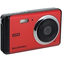 Bell+Howell 20 Megapixels Digital Camera with 1080p Full HD Video with 3 LCD, Red (S20HD-R)