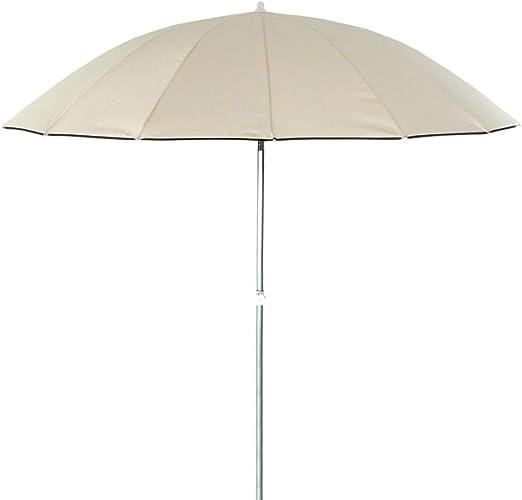 Parasol sombrilla Oriental Beige de Aluminio para jardín de 250 cm ...