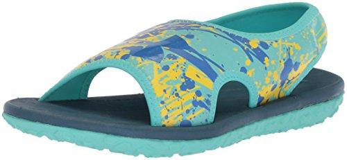 Under Armour Girls' Pre School Fat Tire II Slide Sandal, Tropical Tide (300)/Sunbleached, 11K