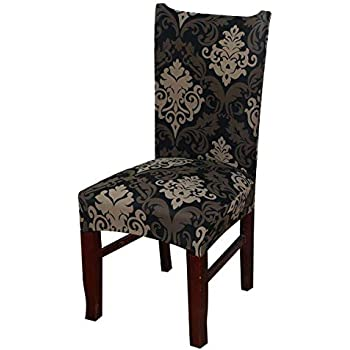 Amazon Com Weichuan Stretch Removable Short Dining Chair