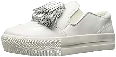 The Fix Women's Jasper Slip-on Tassel Fringe Fashion Sneaker, White, 6 B US