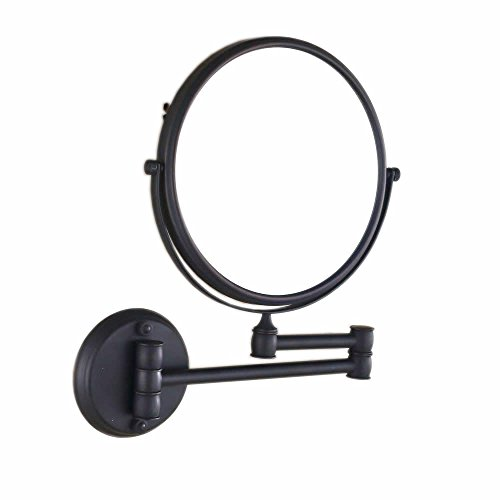 Hiendure 8-inch Two-Sided Swivel Wall Mount Makeup Mirror with 3X Magnification, Oil -