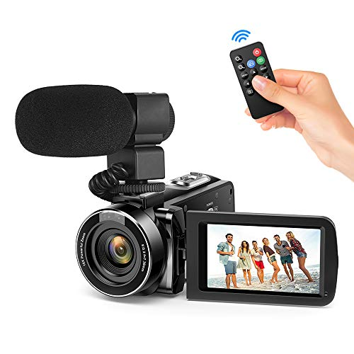 "Andoer Video Camera Camcorder, Digital Video Camcorder FHD 1080P Video Camera Infrared Night Vision 3.0"" Rotating LCD Screen 16X Digital Zoom Remote Control with Microphone and Remote Control from Andoer"