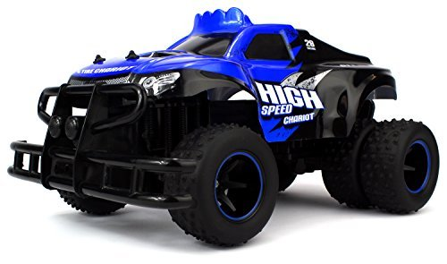 Velocity Toys 6 Tire Chariot Remote Control RC High Performance Truggy, 2.4 GHz Control System, Big Size 1:10 Scale RTR (Colors May Vary) (Gas Powered Lamborghini Rc)
