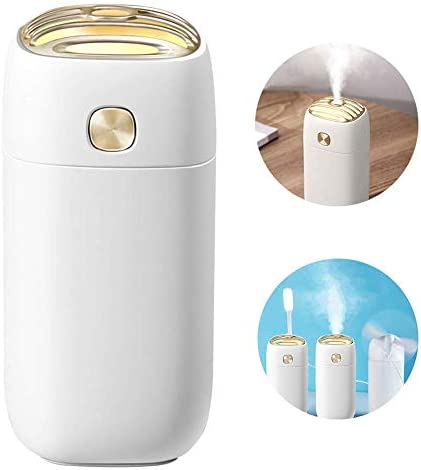 Kula Co. Portable Mini USB Humidifier, 200ml Ultrasonic Cool Mist Humidifier for Bedroom, Home Office, Car or Travel, Auto Shut-Off, Super Quiet Operation White