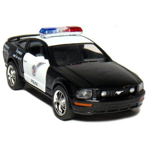 KiNSMART Ford Mustang GT Police 2006 Black & White 1-38 Toywonder, Multicolor]()