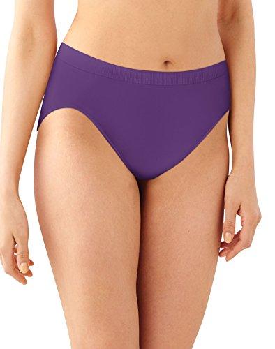 Bali Womens Comfort Revolution Microfiber Hi-Cut Panty, 3-Pack, 10/11