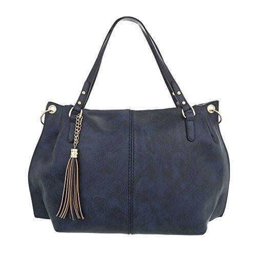 design Pour Femme Foncé Cabas Ital Bleu qZvf7