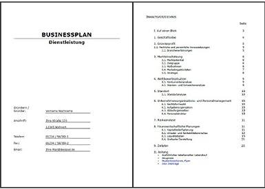 Businessplan Vorlage Word Pdf Excel Businessplan Seminar 1