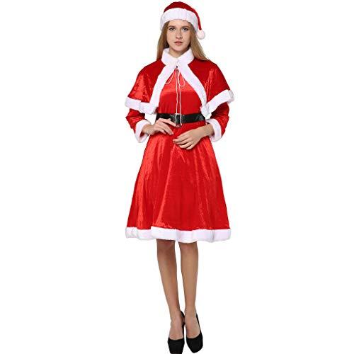EraSpooky Women's Sweet Miss Santa Claus Outfit Christmas Fancy Dress Costume ()