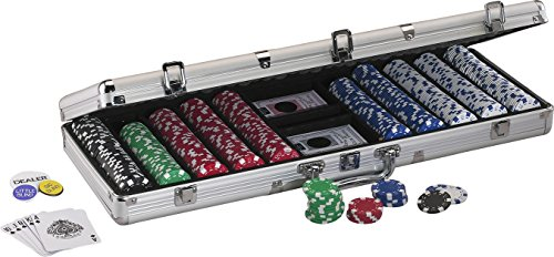 [Fat Cat 11.5 Gram Texas Hold 'em Poker Chip Set with 500 Striped Dice Chips] (11.5g Texas Holdem Set)