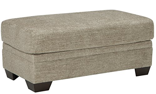 Barrish Traditional Fiber Sisal Color Ottoman by FurnitureMaxx