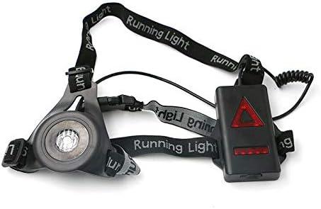 Buzz - 1 luz para Correr, luz de Pecho para Correr, Linterna Frontal USB LED Recargable, 3 Modos, Ideal para Correr, Senderismo, Camping, Correr, ...