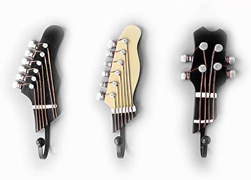 OFKPO 3 Pcs Ganchos con Formas de clavijero de Guitarra y Ukelele ...