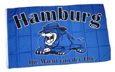 Fahne / Flagge Hamburg Bulldogge Fan NEU 90 x 150 cm