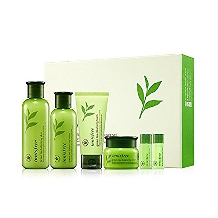 Price comparison product image Innisfree Green Tea Balancing Special Skin Care (Skin 200ml + Lotion 160ml + Cream 50ml) Set