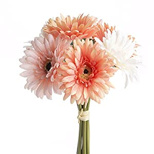 Factory Direct Craft Stunning Artificial Spring Gerbera Daisy Bouquet for Crafting, Creating and Embellishing 31