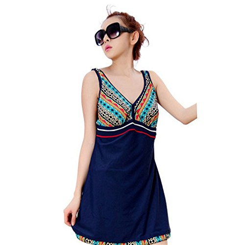 yingzuzeng-womens-geo-tribal-print-one-piece-v-neck-flyaway-swimdress-bathing-suit-navyxx-small-0-se