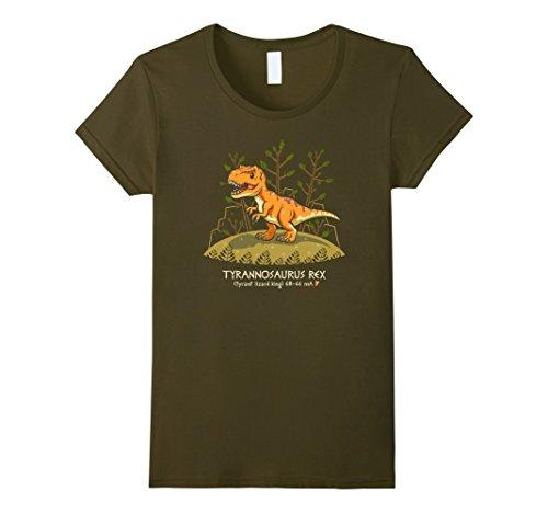 Women's Tyrannosaurus Rex My Favorite Dinosaur T-Rex T-Shirt Medium Olive (Dinosaurs Perfect Predators)