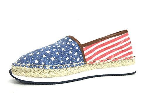DS16UP15 POLO DONNA CORDA SCARPE STARS US FONDO GOMMA ESPADRILLAS STRIPES AND Opw6qv