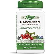 Nature's Way Premium Herbal Hawthorn Berries, 1,530 mg per serving, 180 Capsules (Packaging May Vary)