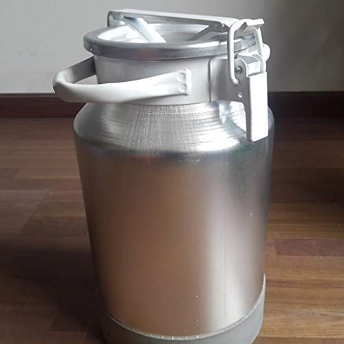 Wotefusi Goat Milk Bucket Aluminum Alloy Sealed Capacity 30L Milk Water Tea Wine Liquid Collecting Storage Transport Tank Container Barrel by Wotefusi