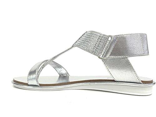 Sandalo infradito Liu-Jo Stella S15047 silver con strass