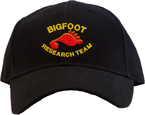 Bigfoot Research Team Embroidered Baseball Cap - Black