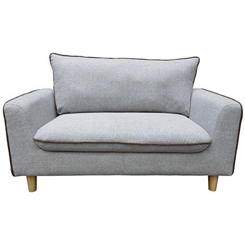Beverly Furniture Enzo Sofa, Light Gray