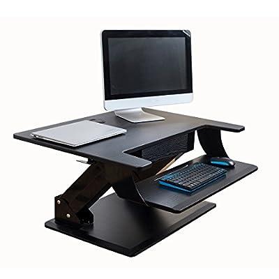 DEKDEJA Ergonomic Height-Adjustable Standing Desk Converter