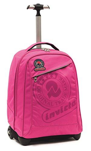 Invicta School 206001617-414 Trolley Zaino, Spallacci a Scomparsa, 35, litri, Poliestere, Rosa