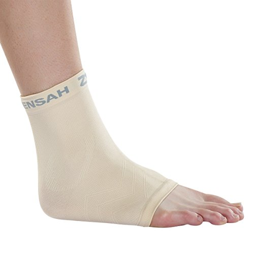 Zensah Unisex Adult Ankle Support, Beige, Small/Medium