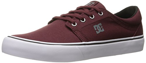 DC Men's Trase TX Unisex Skate Shoe Ox Blood
