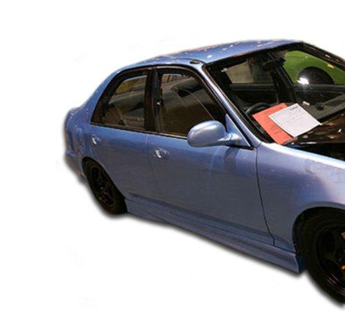 Honda Civic 4dr Side Skirts - Duraflex Replacement for 1992-1995 Honda Civic 2dr / 4DR M3 Side Skirts Rocker Panels - 2 Piece