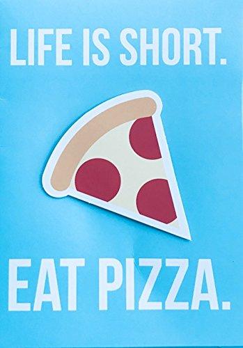 Funny Eat Pizza Birthday Card