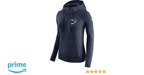 bab61afff7dbe Nike Women s New England Patriots Full Zip Vintage Gym Hoodie College Navy  Heather White Size Small at Amazon Women s Clothing store