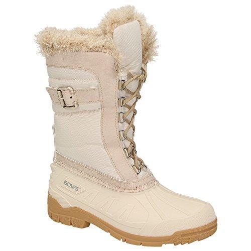 Schuhe Warm Stiefel Snow Damen Gefüttert BOWS Wasserabweisend Schnee Winterstiefel Wasserdicht Winterboots Susi WY8qqwaUF