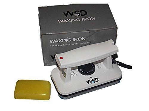 Waxing Iron Snowboard (Ski Snowboard Wax Iron Waxing tune Dimpled plate white iron with yellow wax All temp)