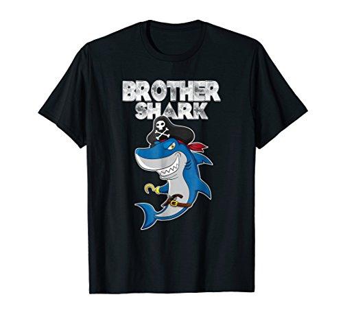 Brother Pirate Shark Halloween shirt Matching