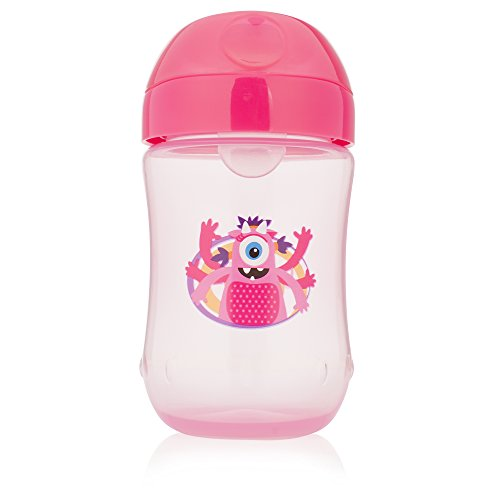 Dr. Brown's Soft-Spout Toddler Cup, Monster Pink, 9 Ounce, Single]()