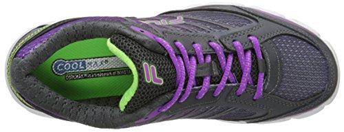 Fila Womens Fresh 3 Running Shoe Dark Shadow / Purple / Green