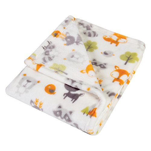 (Trend Lab Plush Baby Blanket, Green Forest)