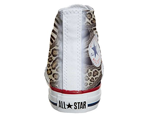 mys Converse All Star Hi Personnalisé et Imprimés chaussures coutume, Sneaker Unisex (produit Italien artisanal) Jungle