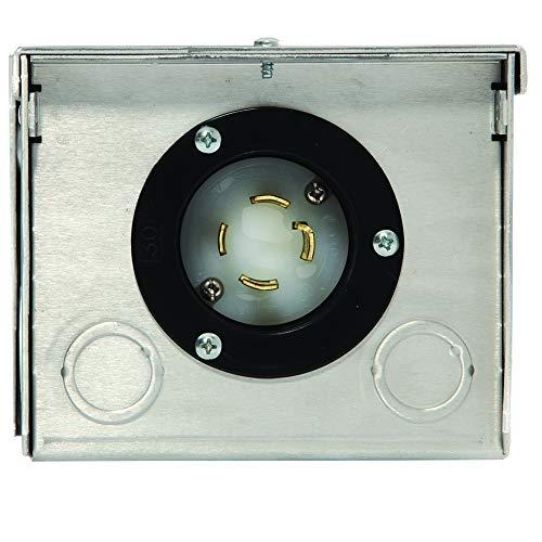 Generac 6343 30-Amp 125/250V Raintight Aluminum Power Inlet Box by Generac (Image #1)