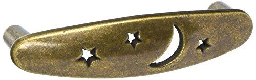Laurey 14005 3-Inch Celestials Pull, Antique Brass
