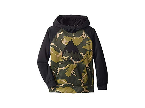 - Burton Boys Crown Bonded Pullover Hoodie, MTN Camo/True Black, X-Small